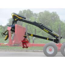 K.T.S Erdészeti hidraulikus rönkfogó daru traktorra 5,3m kitámasztó hidraulikus lábbal