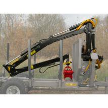K.T.S Erdészeti hidraulikus rönkfogó daru traktorra 6,4m kitámasztó láb nélkül